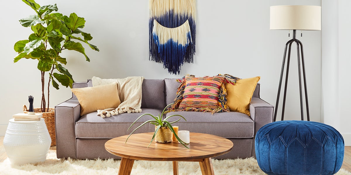 4 brilliant looks to makeover your living room for Bohemian chic living room makeover