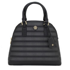 Black Tory Burch Robinson Perforated Dome Satchel