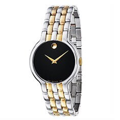 Movado Men's Veturi Two-tone Stainless Steel Black Dial Watch