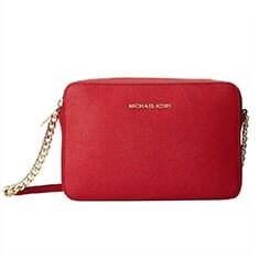 Red Michael Kors Crossbody Handbag
