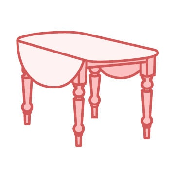 Country Drop-Leaf Tables