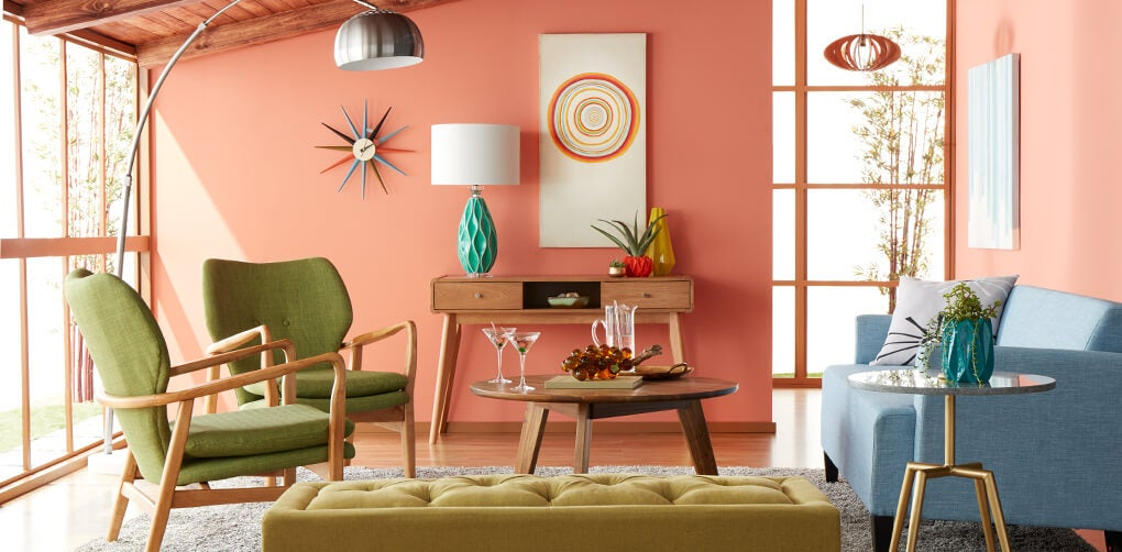 A Colorful Mid Century Modern