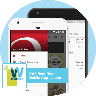 2014 Best Retail Mobile Application from m.webaward.
