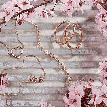 Women's necklace, bracelet, and earrings