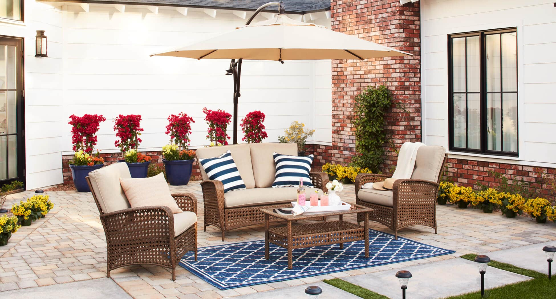 A patio furniture set