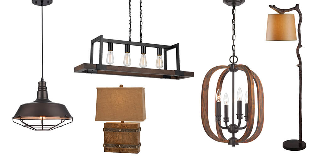 Types of rustic lighting