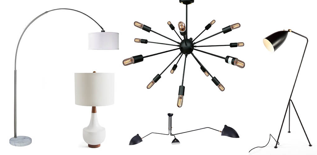 Types of mid-century modern lighting