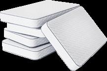 Big ol' stack of mattresses