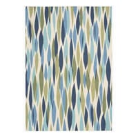 Blue and green area rug