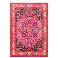 Floral medallion area rug
