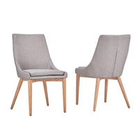 Barrel-back dining chairs