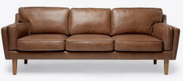 Chic Brow Leather Couch