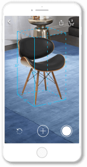 Overstock.com app AR example