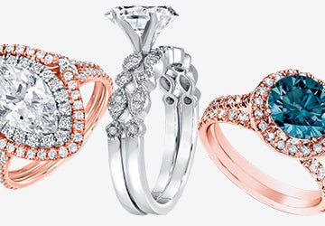 A collection of unique engagement rings