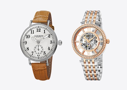 A set of watches, both on sale for Valentine's Day