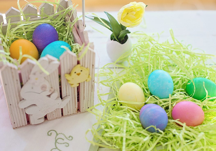 An easter basket, which is a great gift for grandchildren
