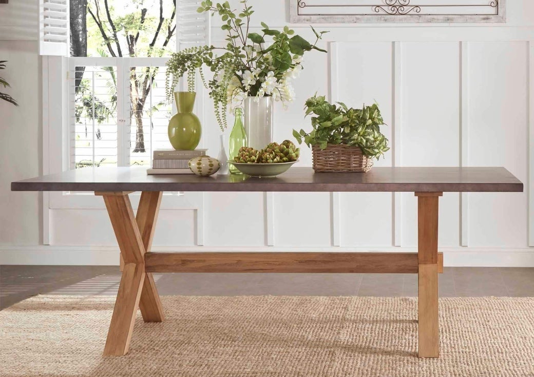 Farmhouse style dining table