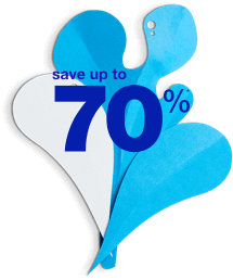save up to 70%*