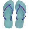 Blue shower shoes