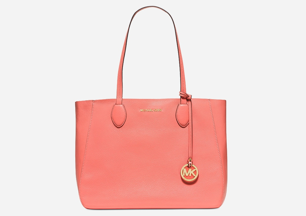 Coral colored Michael Kors tote