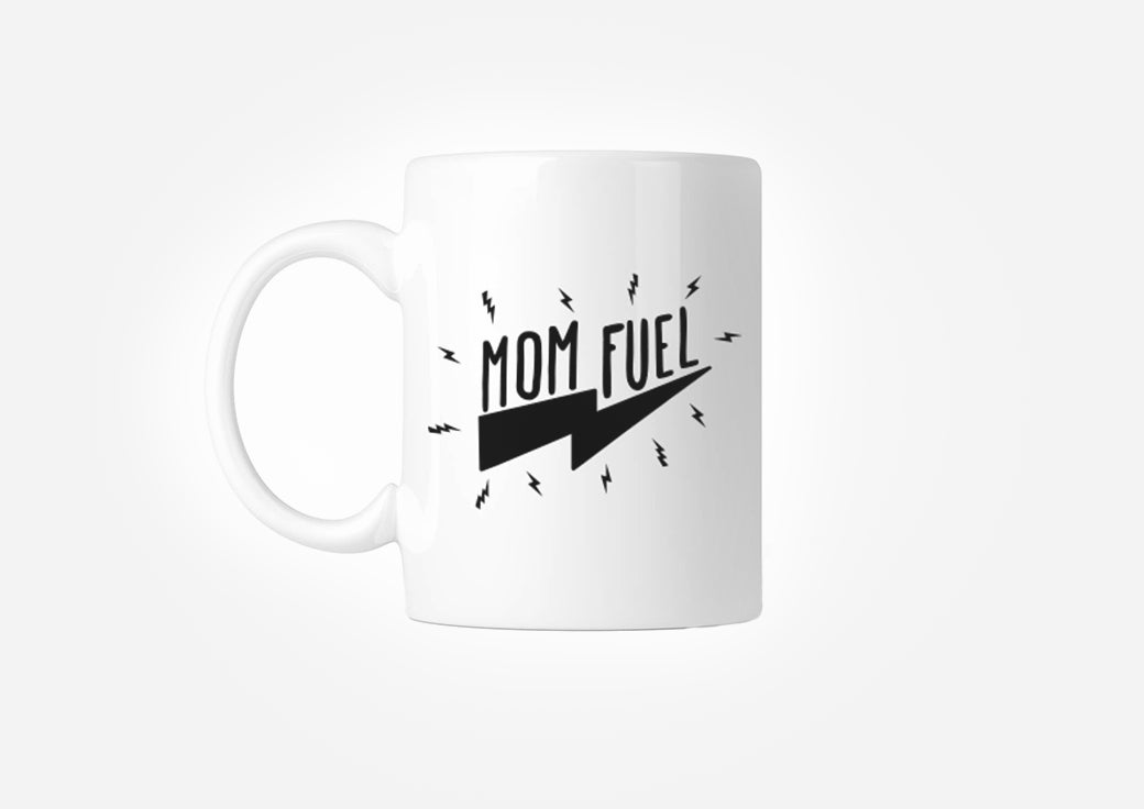 OWhite mom fuel mug