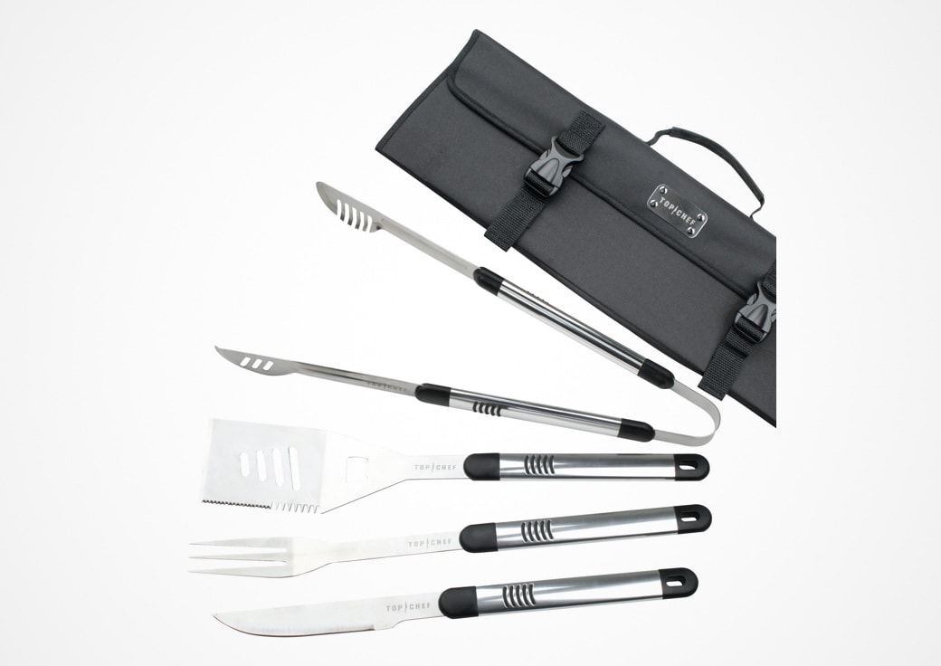 silver grilling tools