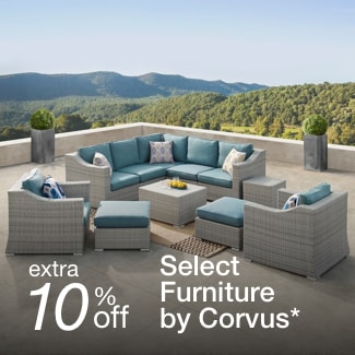 extra 10% off select furniture by Corvus*