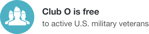 Club O is free for active U.S. military and veterans