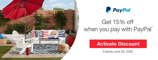15% off coupon - PayPal Offer