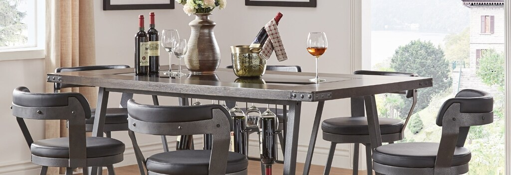 Industrial iron pub table