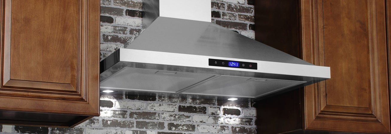 Stainless steel wall mounted range hood