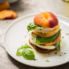 Layered Summer Caprese Salad