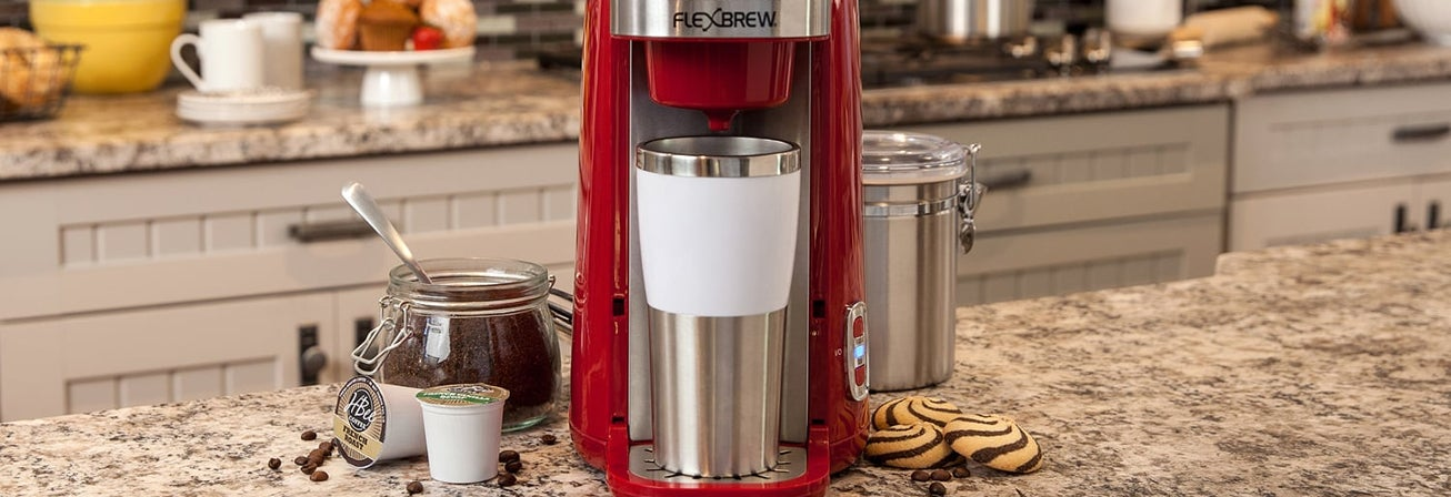 Red Flexbrew kcup coffee maker