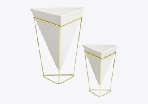 White and Gold Vases