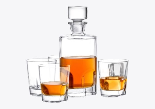 Scotch Decanter with Glasses