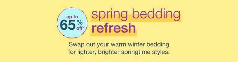 Spring Bedding Refresh - new season. fresh styles. FREE SHIPPING* - desktop hero