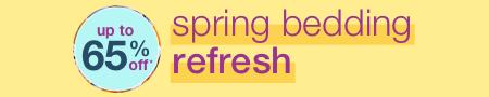 Spring Bedding Refresh - new season. fresh styles. FREE SHIPPING* - mobile hero