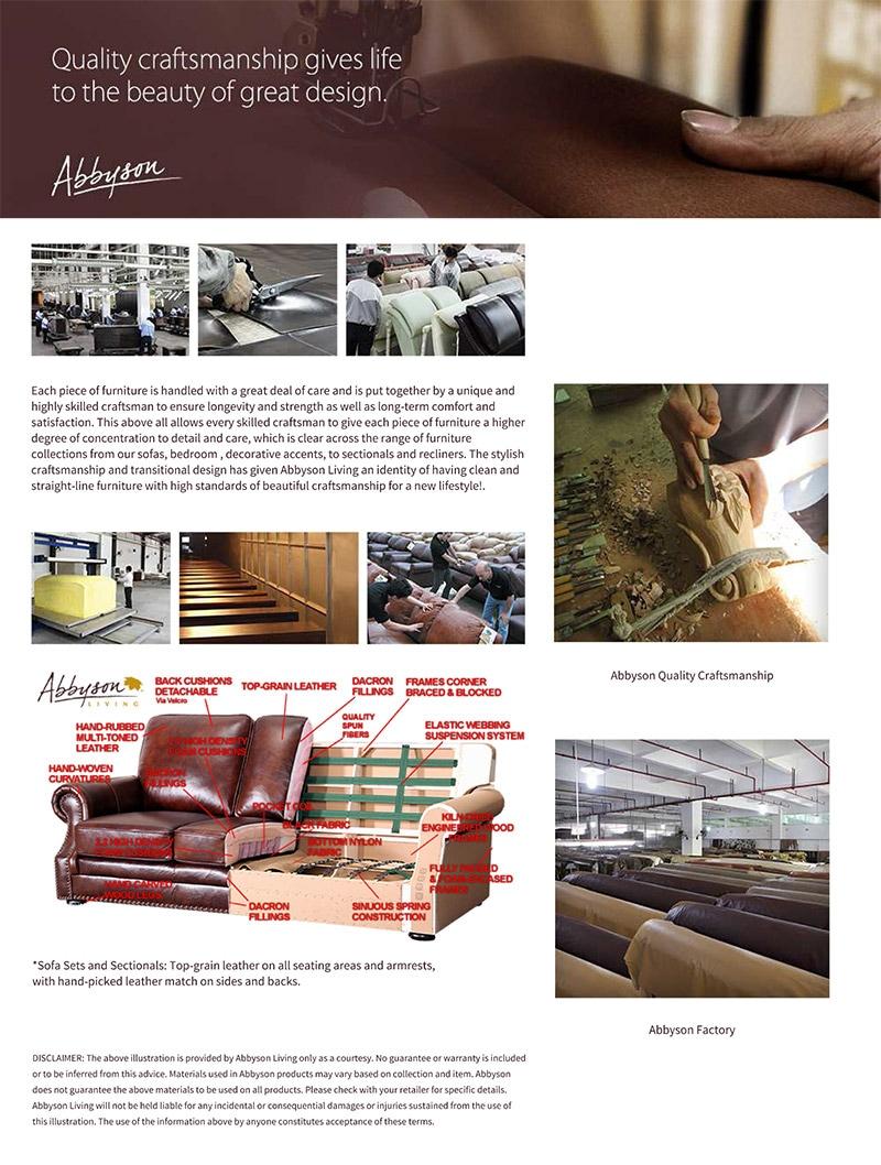 Abbyson Craftsmanship & Materials
