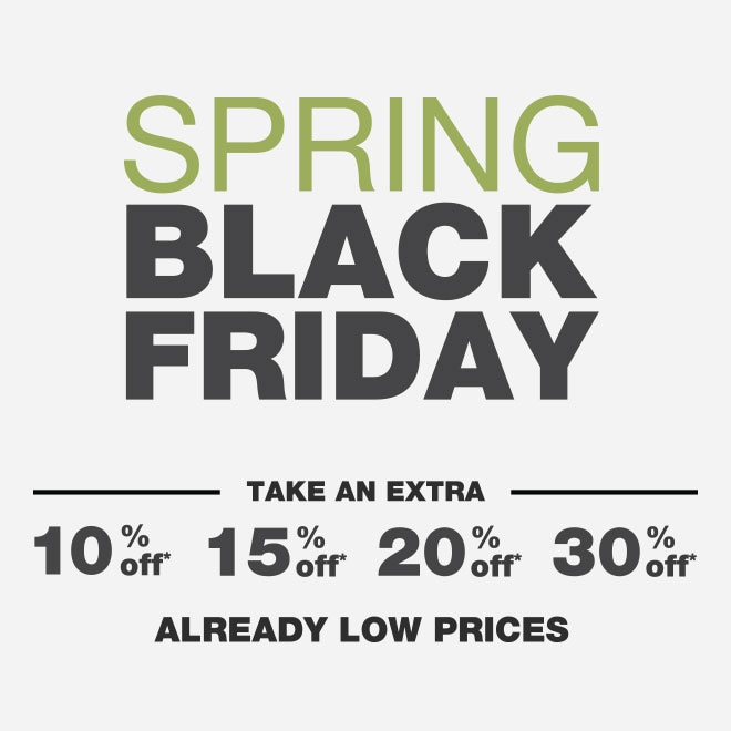 Up to 70% Off Spring Black Friday*