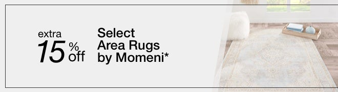 Extra 15% off Select Area Rugs by Momeni*