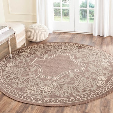 Brown Circular Area Rug