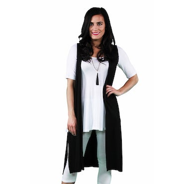 Wear Leggings with a Long Flowing Vests and Jackets