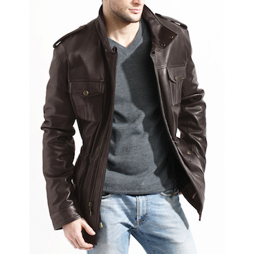 Fully-Lined Men's Leather Jacket