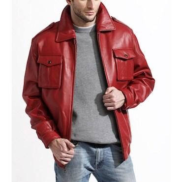 Water Repellent Men's Leather Jacket