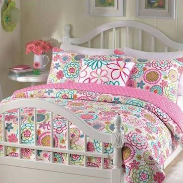 Pink Flower Comforter