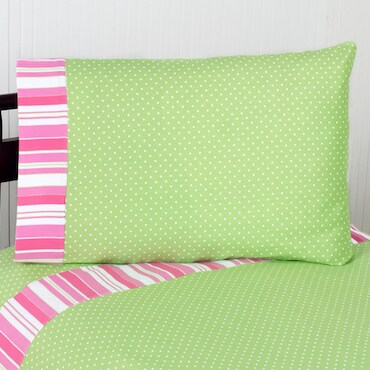 Pink and Green Kids' Bed Sheets