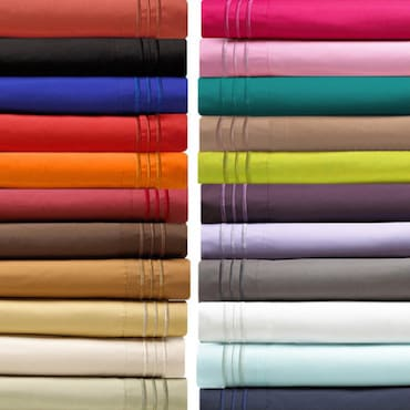 An Array of Different Colored Silk Sheets