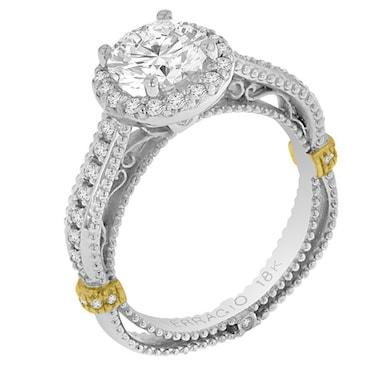 Stylish Combination Cubic Zirconia Ring