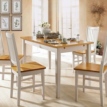 White and Brown Casual Dining Chairs