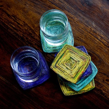 Multi-colored Glass Coasters